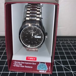 Timex Men's Indiglo Stainless Steel ExpansionWatch